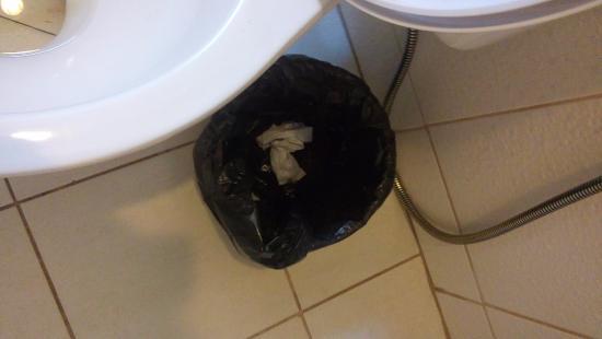 Hotel Balneario Cabo Frio: Banheiro já usado na minha chegada!!! Não foi limpo!