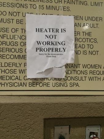 Holiday Inn Express Harrisonburg : Signage for the Hot Tub.