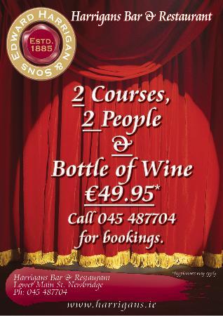 Harrigans Bar & Restaurant: Harrigan's 2 Courses 2 People & Bottle of Wine €49.95