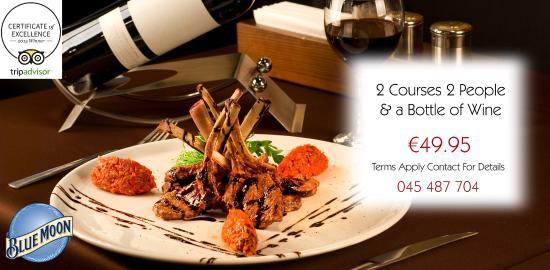 Harrigans Bar & Restaurant: Harrigan's 2 Courses for 2 People & Bottle of Wine only €49.95