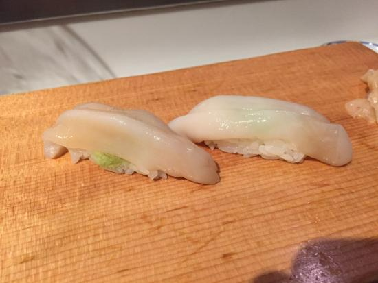 City Miyama Restaurant : Fresh razor clam sushi.