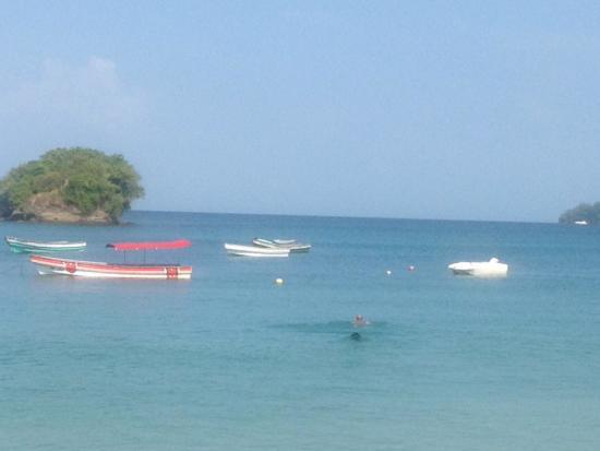 Isla Saboga, Panama: Dalla spiaggia dei pescatori
