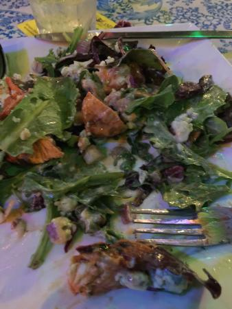 Harrison's Landing: I had the buffalo chicken salad.  I dug into it before I took this picture, obviously !  Little