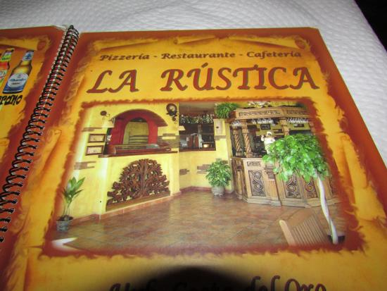 Pizzeria La Rustica: Carta de la Rustica