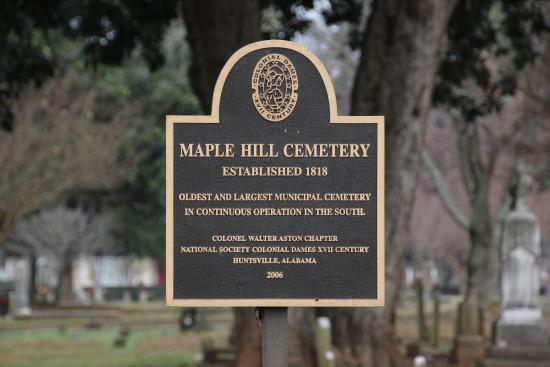Huntsville, AL: Maple Hill Cemetery, Al.
