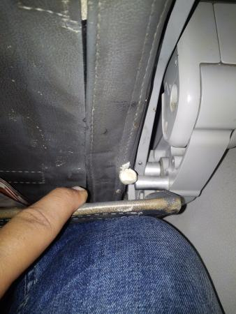 SpiceJet A Chewing Gum Stuck At The Seat