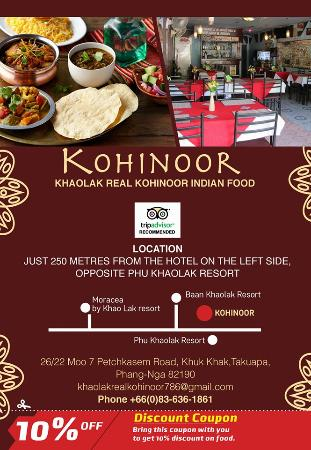 real kohinoor indian restaurant picture of khao lak royla palm rh tripadvisor co za