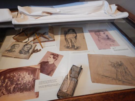 Gari Melchers Home and Studio at Belmont: Some of Melchers sketches and tools