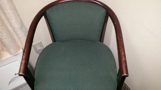 Baymont by Wyndham Forest City: only chair ini the room - very fragile and worn