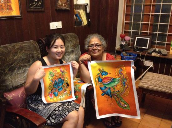 Springhaven: The talented Nirmala and her beautiful paintings