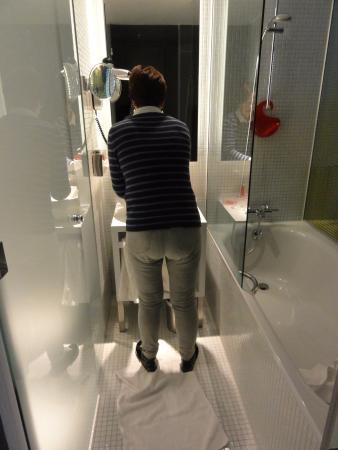 a rather small bathroom bath shower on the right toilet on the rh tripadvisor ie