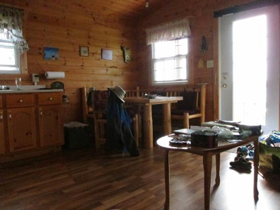 Stanley Bridge, Canada: Living area of The Seagull stand-alone cottage