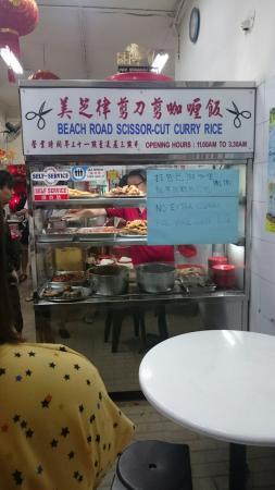 Beach Road Scissors Cut Curry Rice
