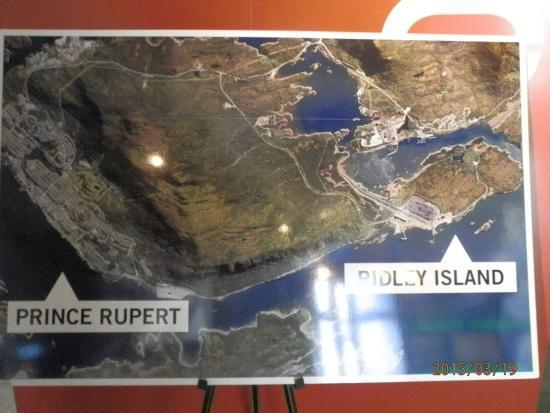 Port Interpretive Centre: Aerial shot of PR and Ridley