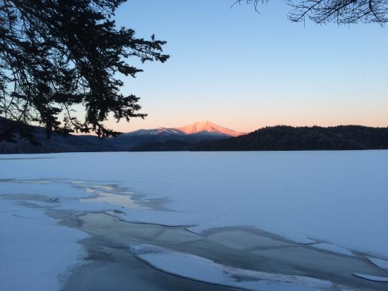 view of whiteface from cabin at lake placid lodge picture of lake rh tripadvisor com sg