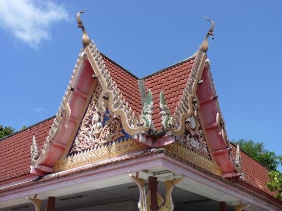 Bophut, Thailand: Temple detail