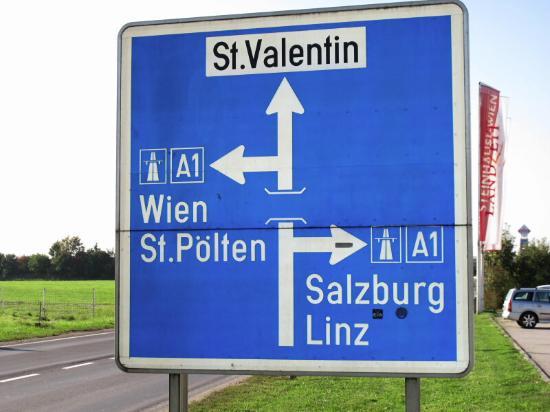 Sankt Valentin, Austria: Located between Salzburg and Vienna