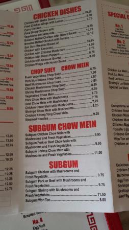 Hk Take Out Chinese Food Menu