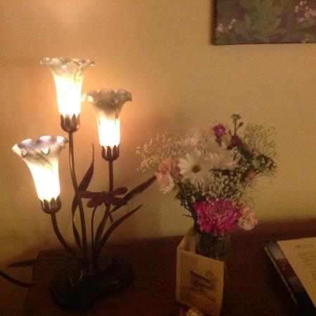 Inn on Mill Creek: Flowers and a card for my birthday.  Very sweet.