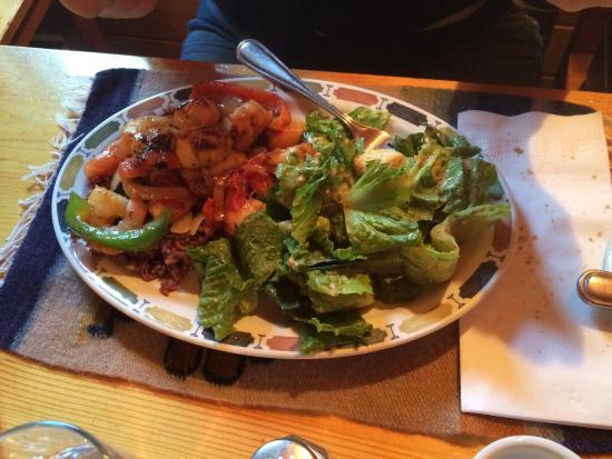 Victoria, Canada: Shrimp dish - delicious!