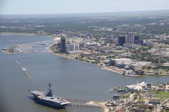 aerial view of downtown corpus christi picture of texan warbird rh tripadvisor com