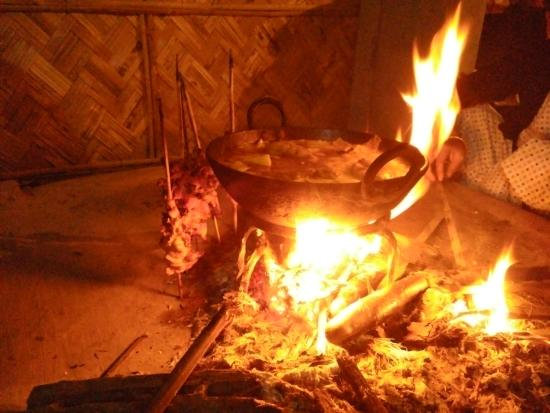 authentic cuisine cooking in mishing tribal style - picture of la
