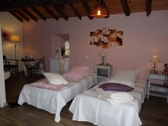 Surba, France: chambre double 2 lits