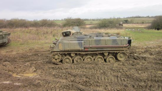 Helmdon, UK: British armoured personnel carrier