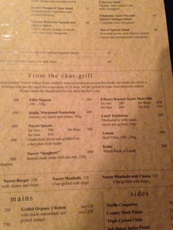 Nusret Dubai Karte.Le Moindre Plat Est A 75 Picture Of Nusr Et Steakhouse