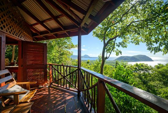 Manicou River: every cottage has stunning sea views