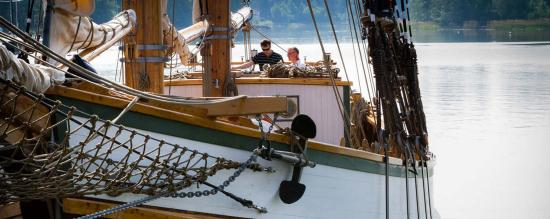 Luvia, Finland: The schooner Ihana was built by the group of volunteers 2006 - 2011