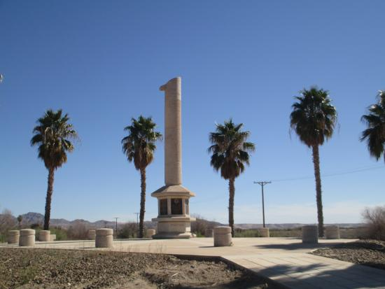 Poston, AZ: Monument at midday