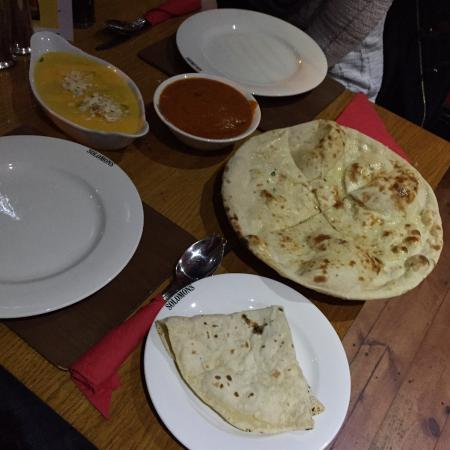 Solomons Dhaba : Yummy! Almond butter chicken, chicken madras.