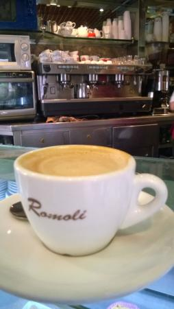 best cappuccino of rome italy picture of bar romoli rome rh tripadvisor com