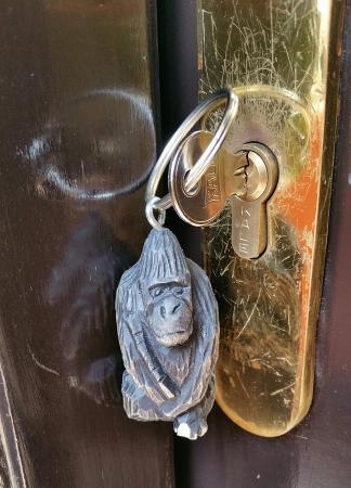 Hotel Gorillas City Center: Liten gorilla i nøkkelring