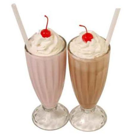 Milshake, jugos y leches con frutas