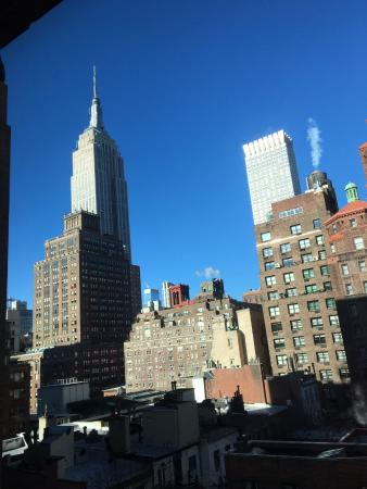 view of empire state building and surrounds from our 10th floor room rh tripadvisor com