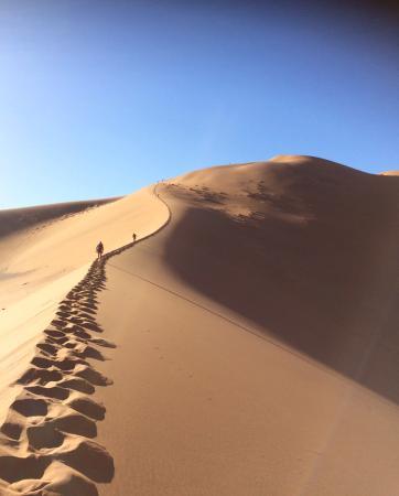 Regionen Khomas, Namibia: Climbing Big Daddy, barefoot. Amazing