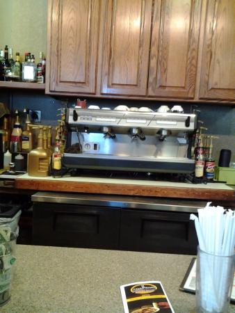 JavaPrimo : Espresso area behind counter