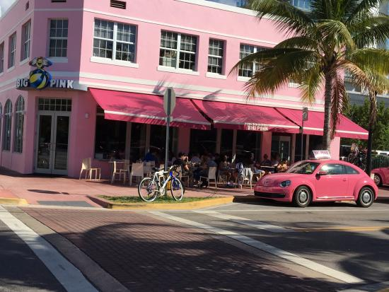 Pink Heres The Restaurant In Collins Avenue