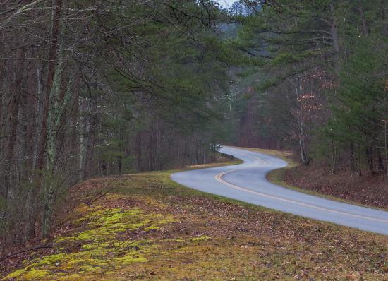 Townsend, TN: Winter view along thje ridgeline