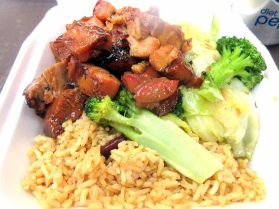 Bourbon Chicken And Vegetables Cajun And Grill Great Mall Food