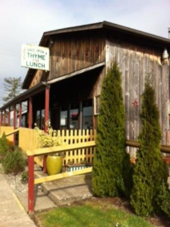 Once Upon a Thyme: Restaurant entry and outdoor dining