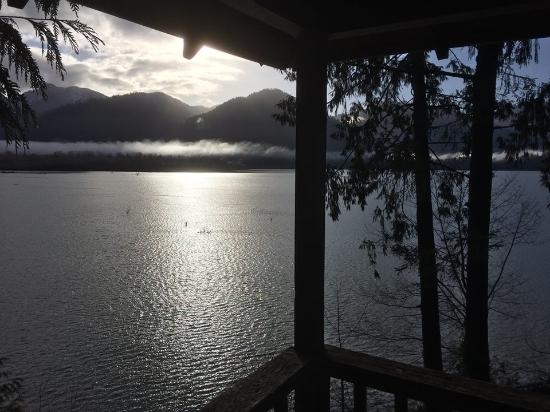 Lochaerie Resort: View from the deck of the Colonel Bob cabin