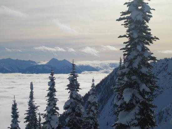 Kootenay Rockies, Canada: Spectacular vista when it stops snowing