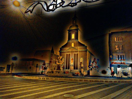 The Church of Our Lady of Sorrows: Kościół Matki Boskiej Bolesnej w Rybniku w świątecznej odsłonie.