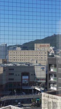 Hotel Wingport Nagasaki : View from our room.