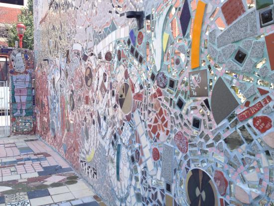 Large wall mosaic Picture of Philadelphias Magic Gardens