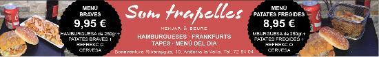 Andorra la Vella Parish, Andorra: menu trapelles
