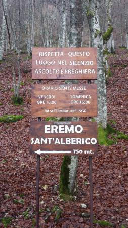 Verghereto, Italien: Eremdi Sant'Alberico